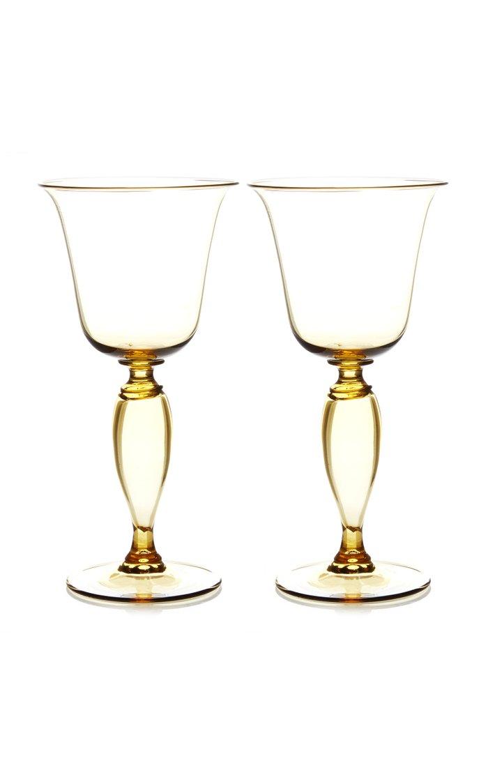 Set-Of-Two White Wine Glasses