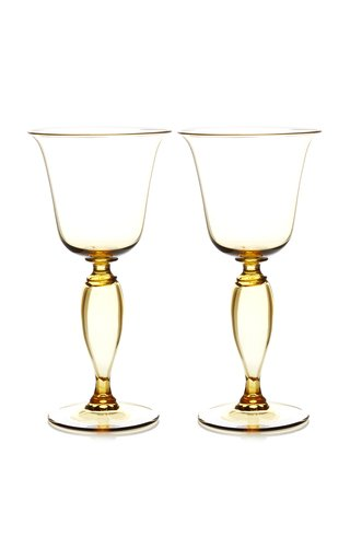 Set-Of-Two White Wine Glasses