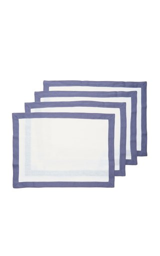 Set-Of-Four Linen Placemats