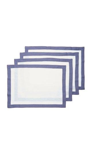 Set-Of-Four Linen Placemats