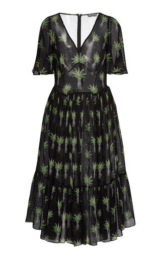 Melancholia Printed Midi Dress