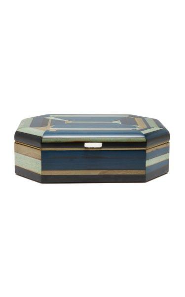 Geometric Marquetry Jewelry Box
