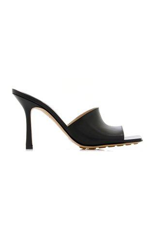 Stretch Leather Slide Sandals