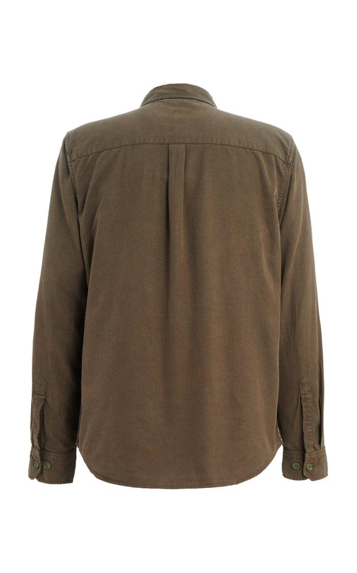 Pocket-Detailed Cotton-Blend Twill Shirt