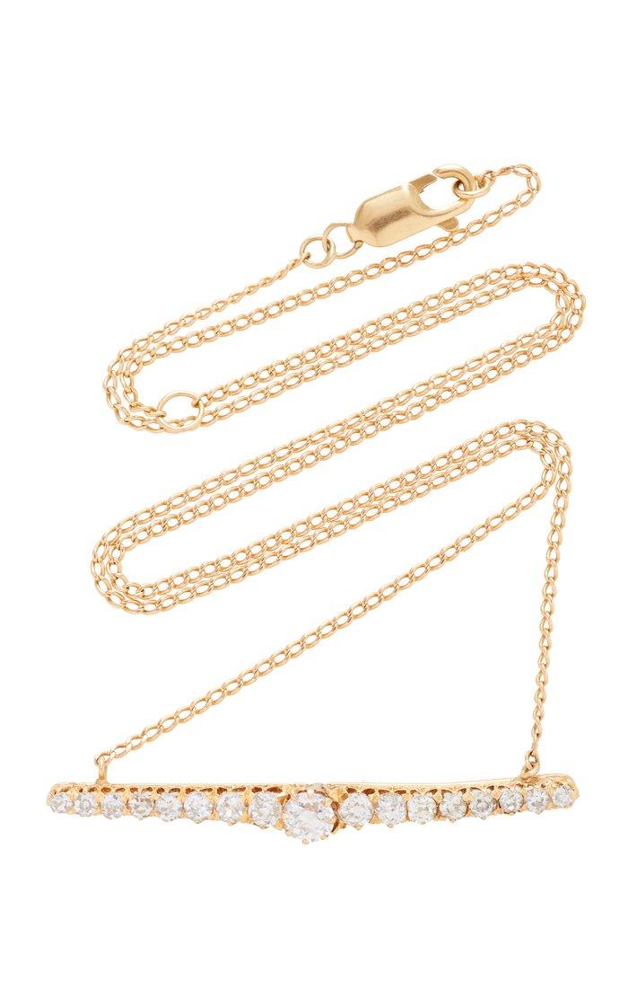 Old Mine Diamond Bar Necklace