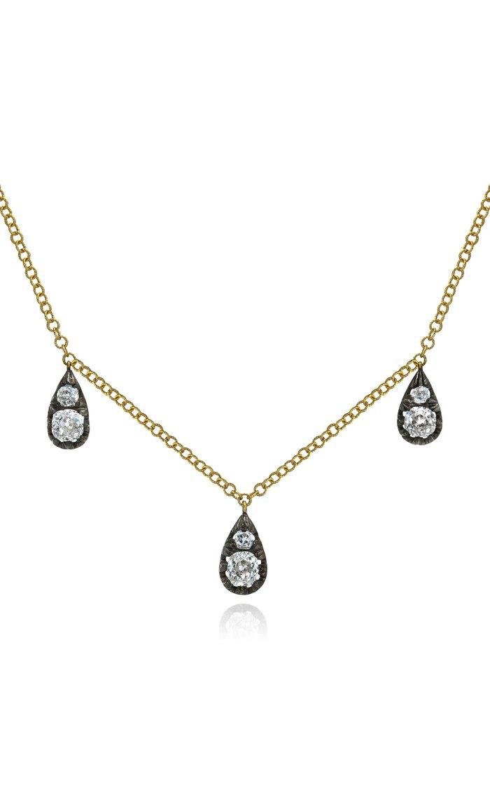 3 Drop Cushion Necklace