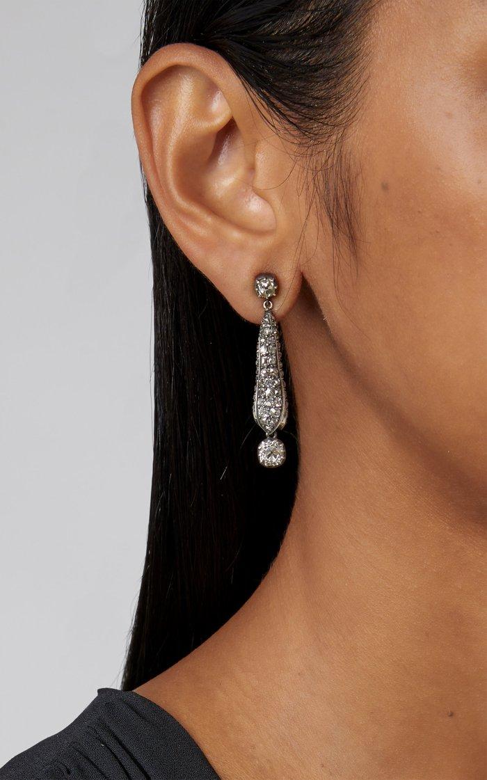 Old Cut Dangling Pod Earrings