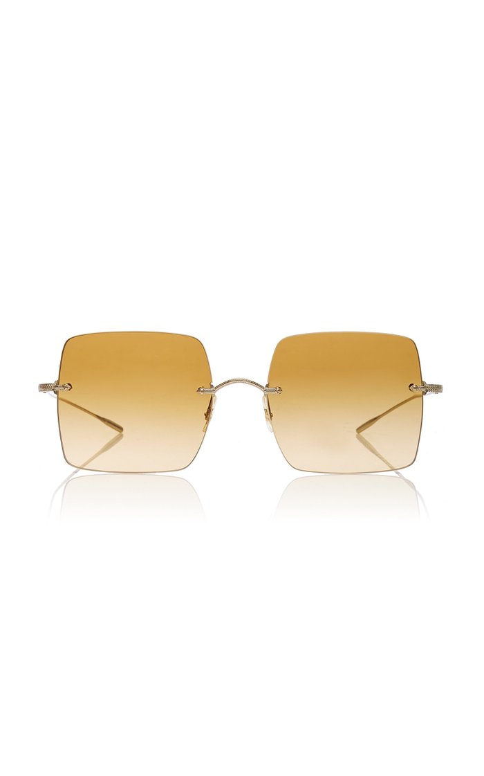 Oishe Oversized Rimless Sunglasses