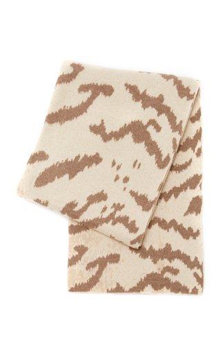 Calabria Animal-Print Cashmere Throw