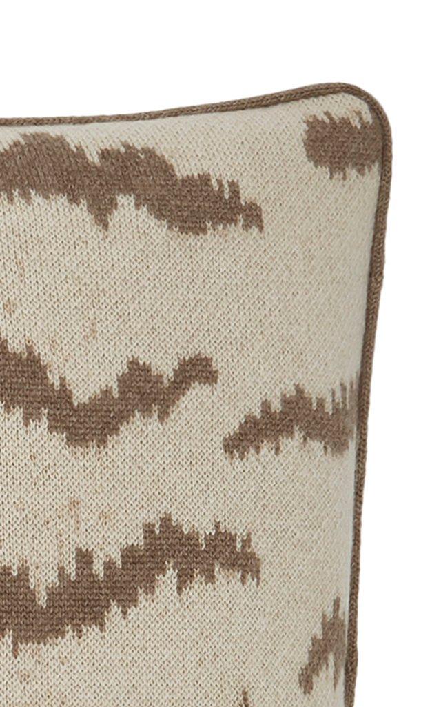 Calabria Animal-Print Cashmere Pillow