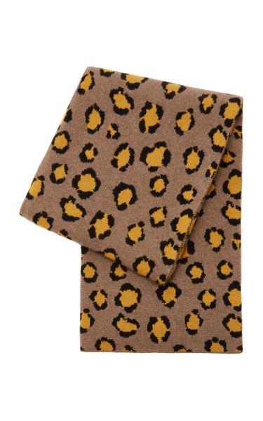 Leopard-Print Cashmere Throw