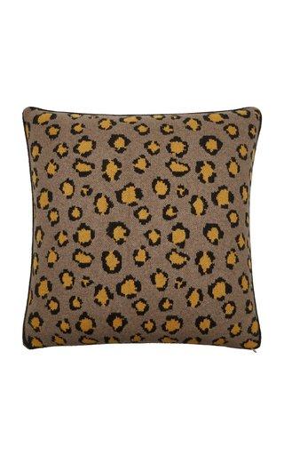 Leopard -Print Cashmere Pillow