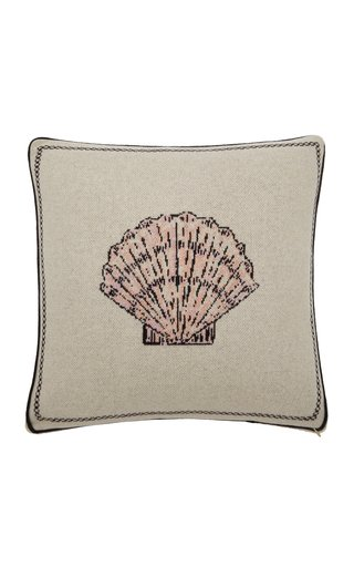 Scallop Shell Cashmere Pillow
