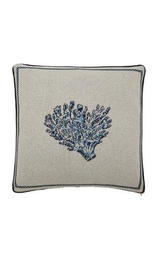 Blue Coral Cashmere Pillow