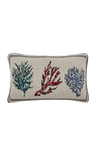 Corals Lumbar Cashmere Pillow