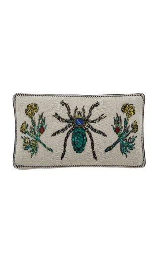 Spider & Botanical Cashmere Lumbar Pillow