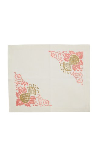 Set-of-Four Printed Linen Placemats