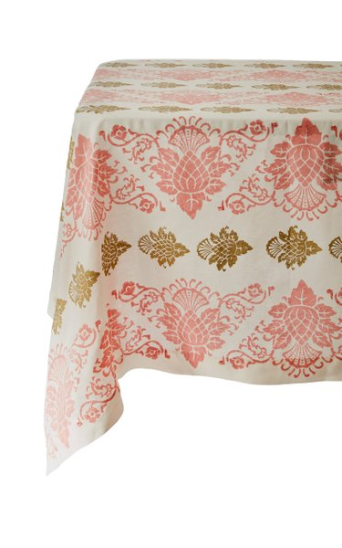 Printed Hand-Blocked Linen Tablecloth