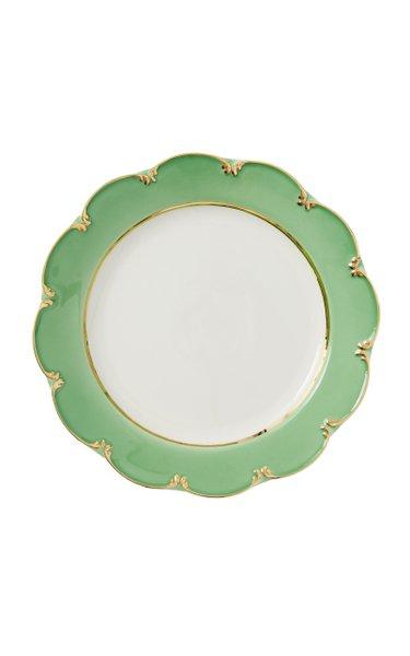 Green Ceramic Dinner Plate