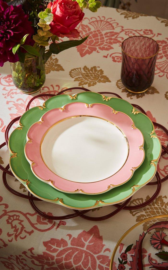 Pink Ceramic Dessert Plate
