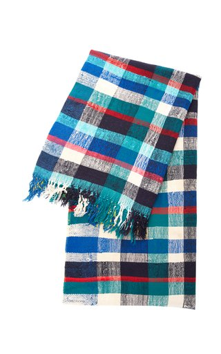 Essauira Plaid Wool And Cotton Tablecloth