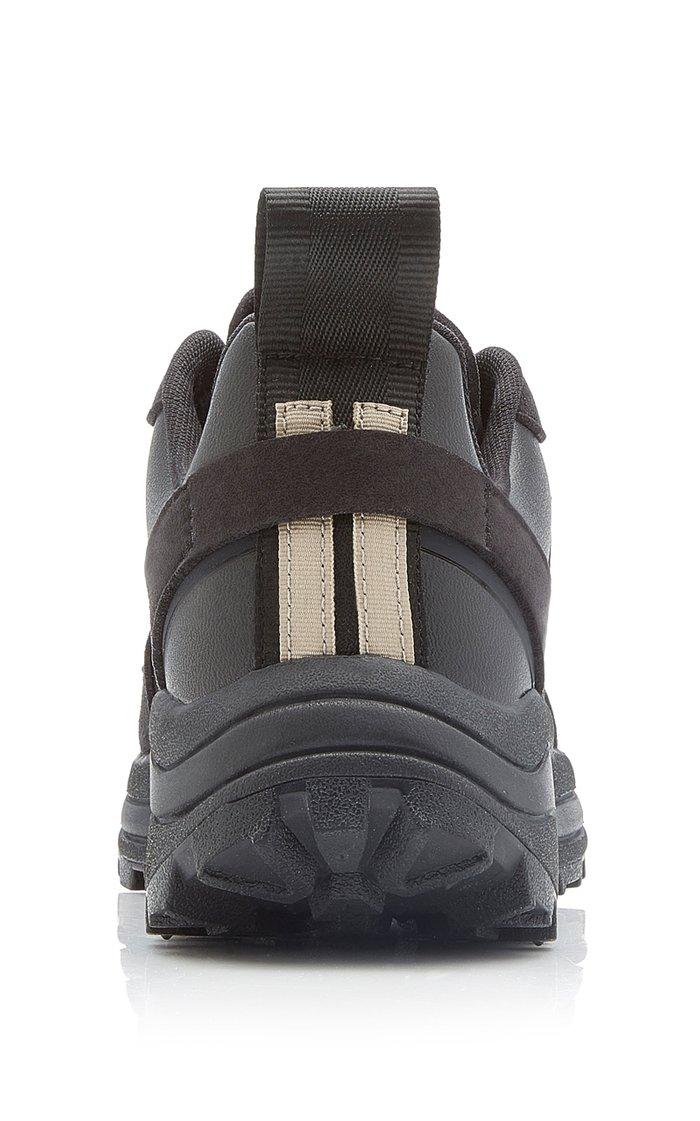 Knitted Vegan Suede Low-Top Sneakers