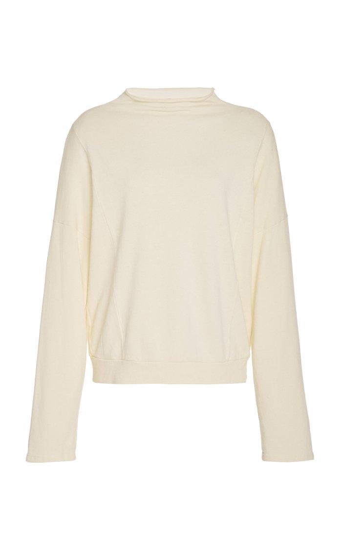 Draped Turtleneck Pullover