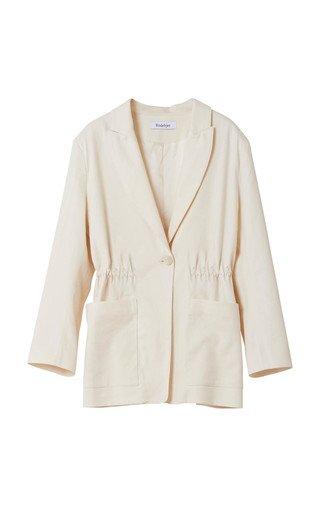 Liberty Single Button Cotton Blazer