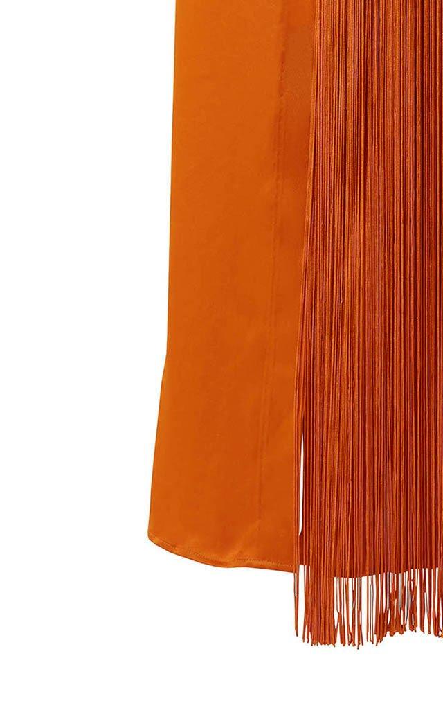 Deniz Fringe Midi Skirt