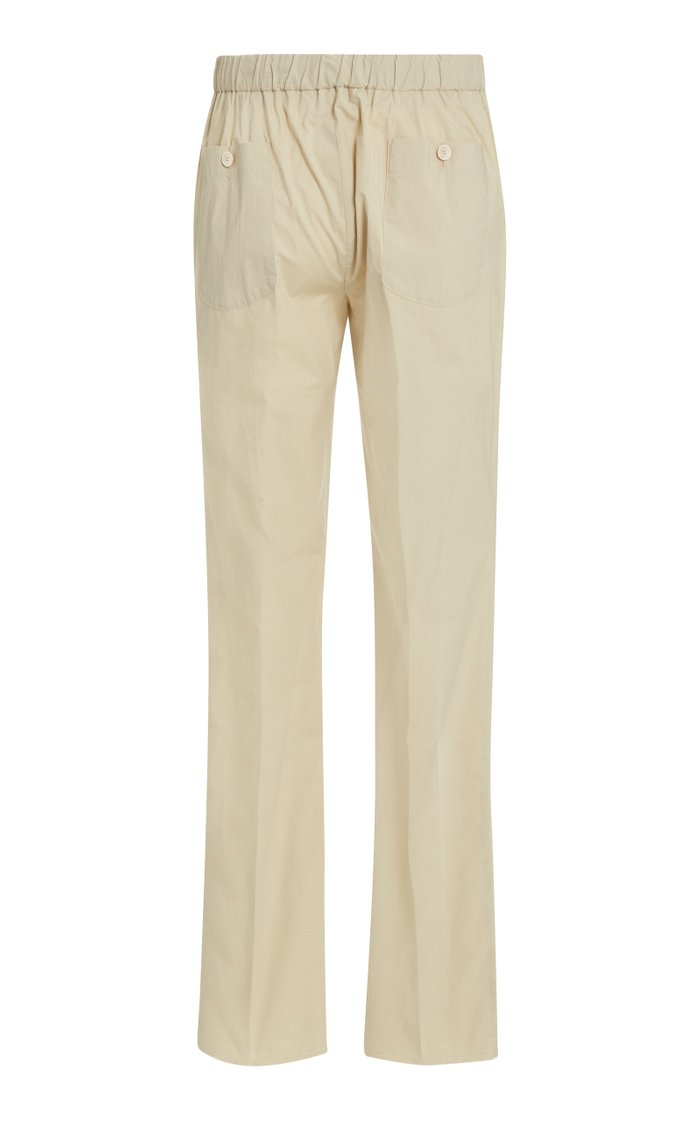 Sonny Pleated Stretch-Cotton Pants