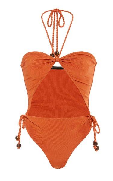 Savanna Cutout Ruched Swimsuit