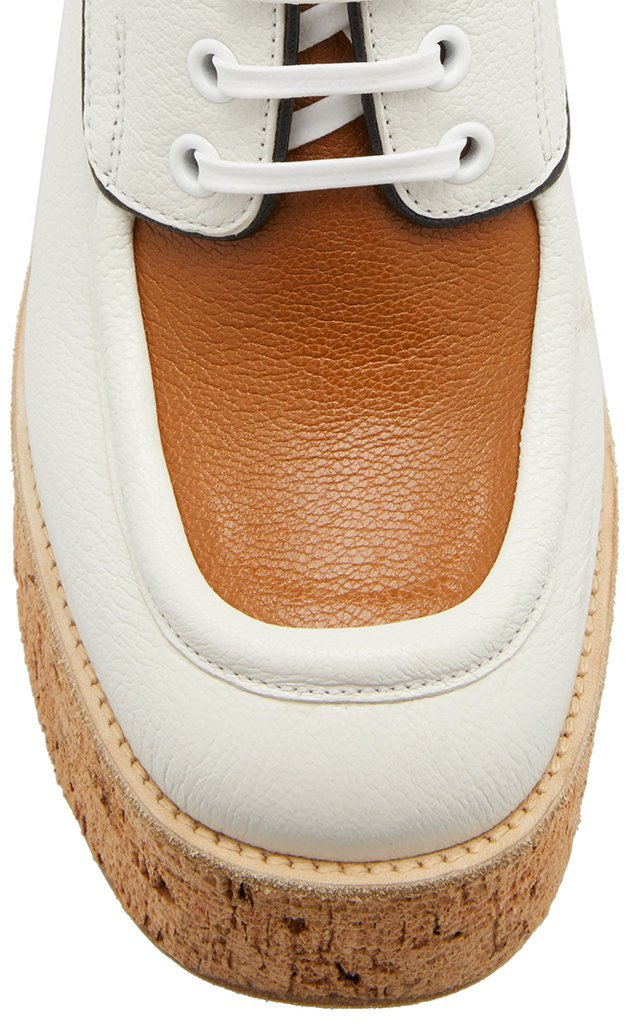 Two-Tone Leather Platform Brogues