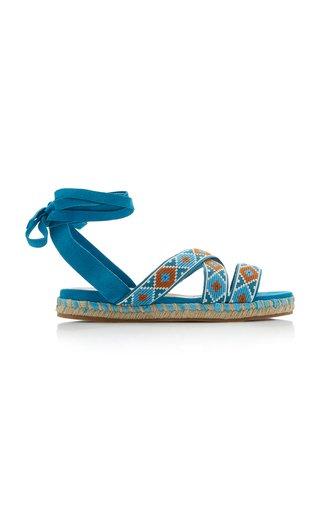 Wrap-around Suede Sandals