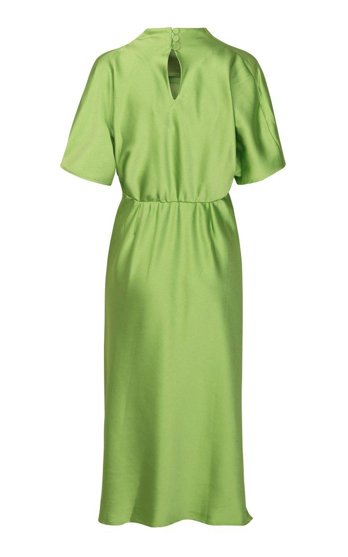Rhode Ruched Sateen Midi Dress