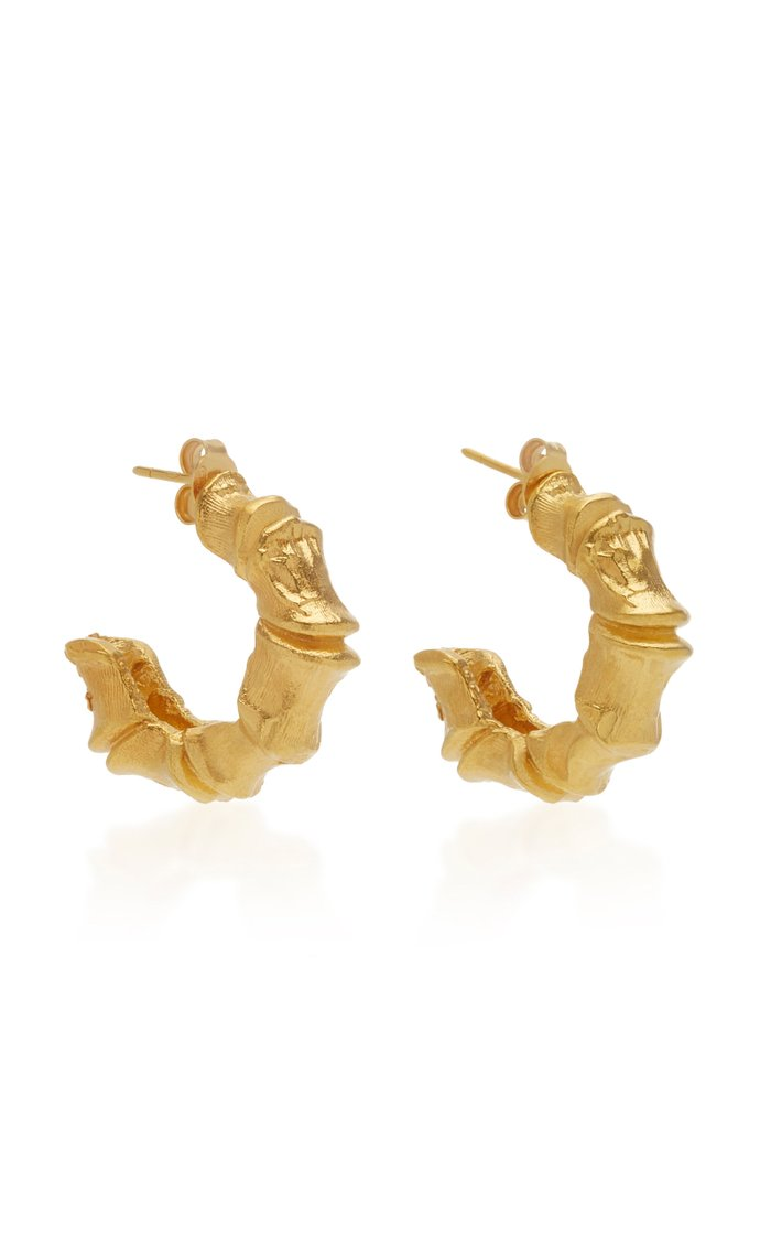 Selva Oscura 24K Gold-Plated Hoop Earrings