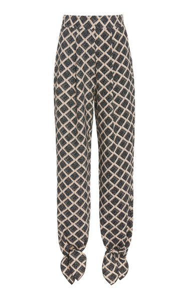 Alisa Printed Side Slit Pants