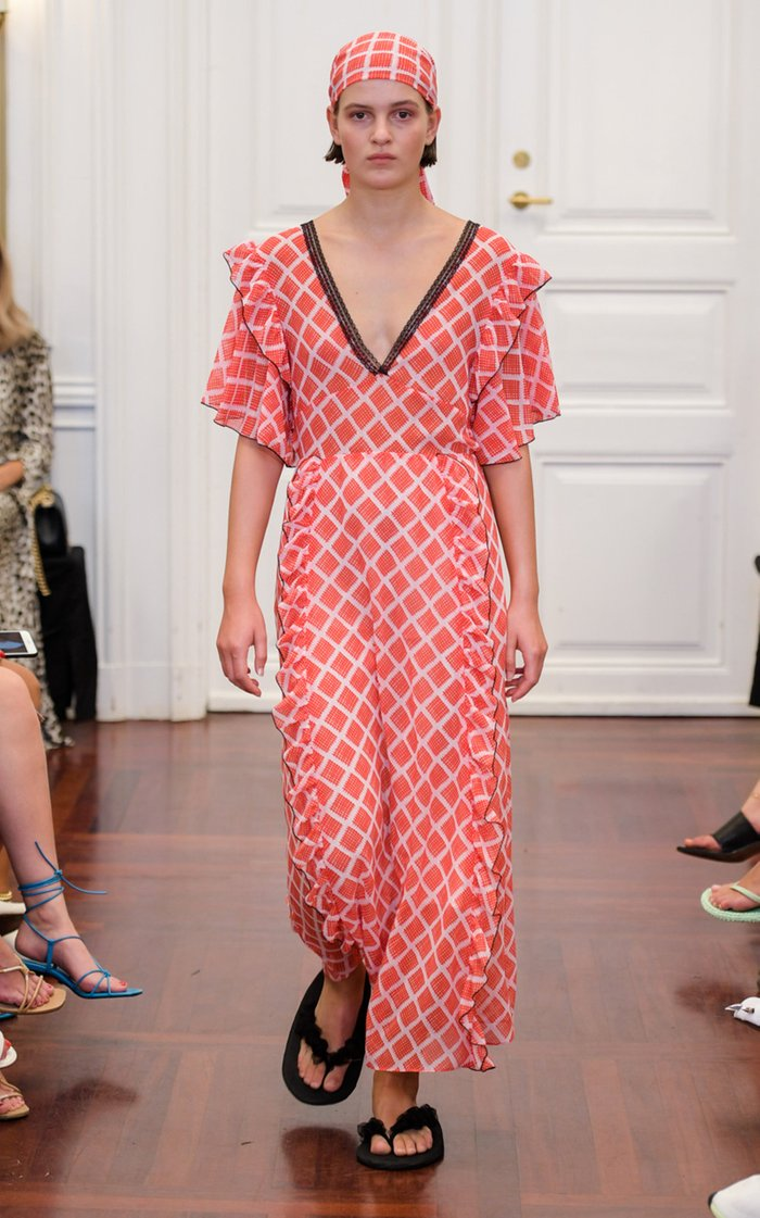 Cathrine Printed Midi Dress