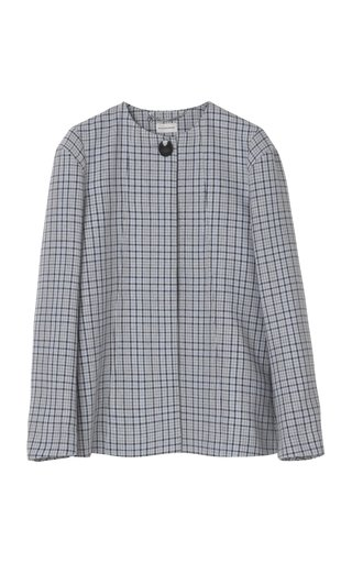 Shelly Double Face Check Jacket