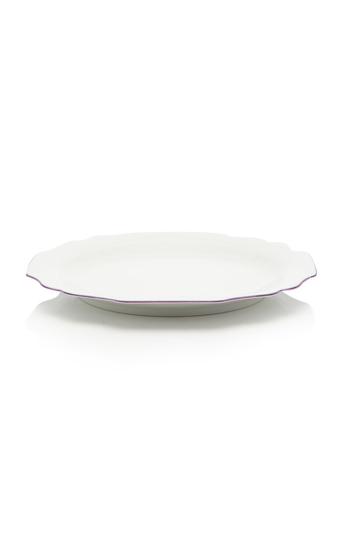 Belvedere Salad plate with lilac rim