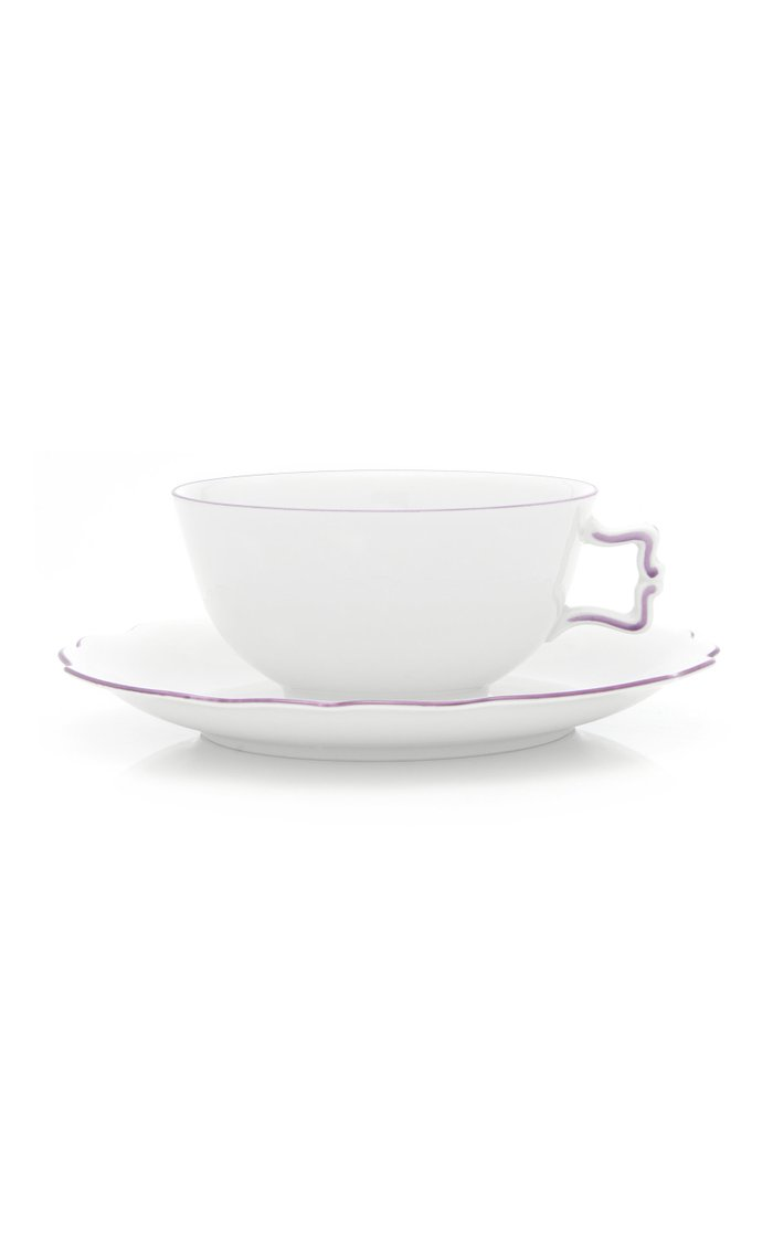 Handpainted Belvedere Tea cup and Saucer