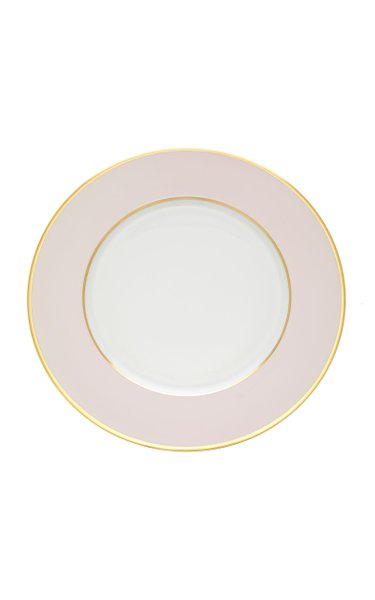 Pale Pink Charger with 24K gold rim