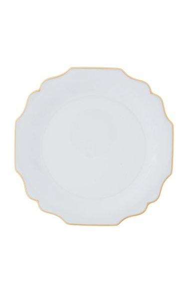 White Belvedere dinner plate with 24K gold rim