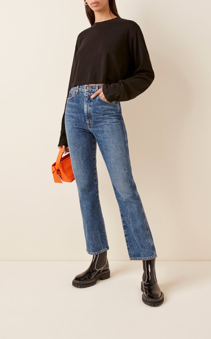 Pinch High-Rise Straight-Leg Jeans