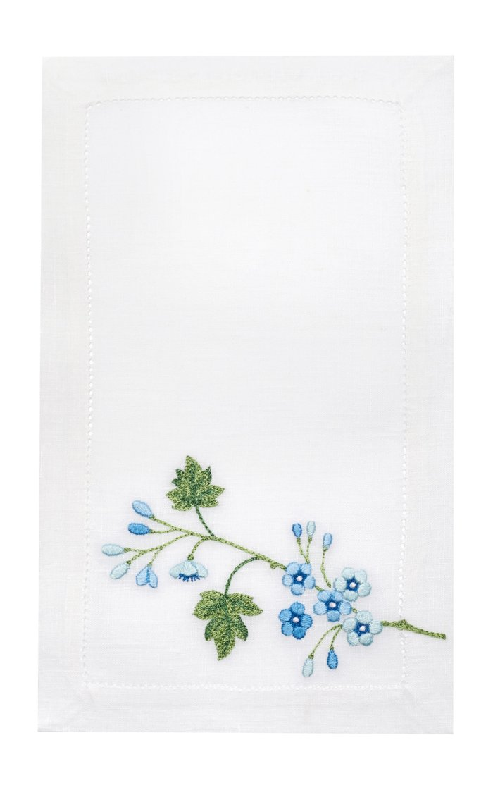 Set Of 4 Liberty Blue Cocktail Napkin