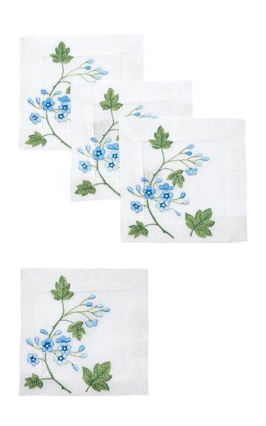 Set Of 4 Liberty Blue  Coaster