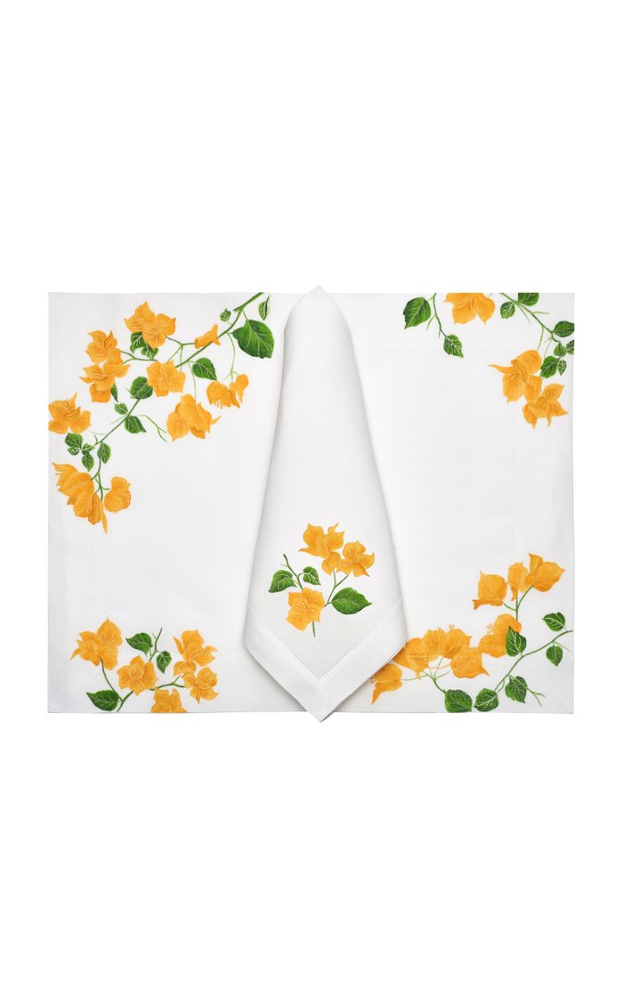 Bougainvilliers  Placemat And Napkin Set