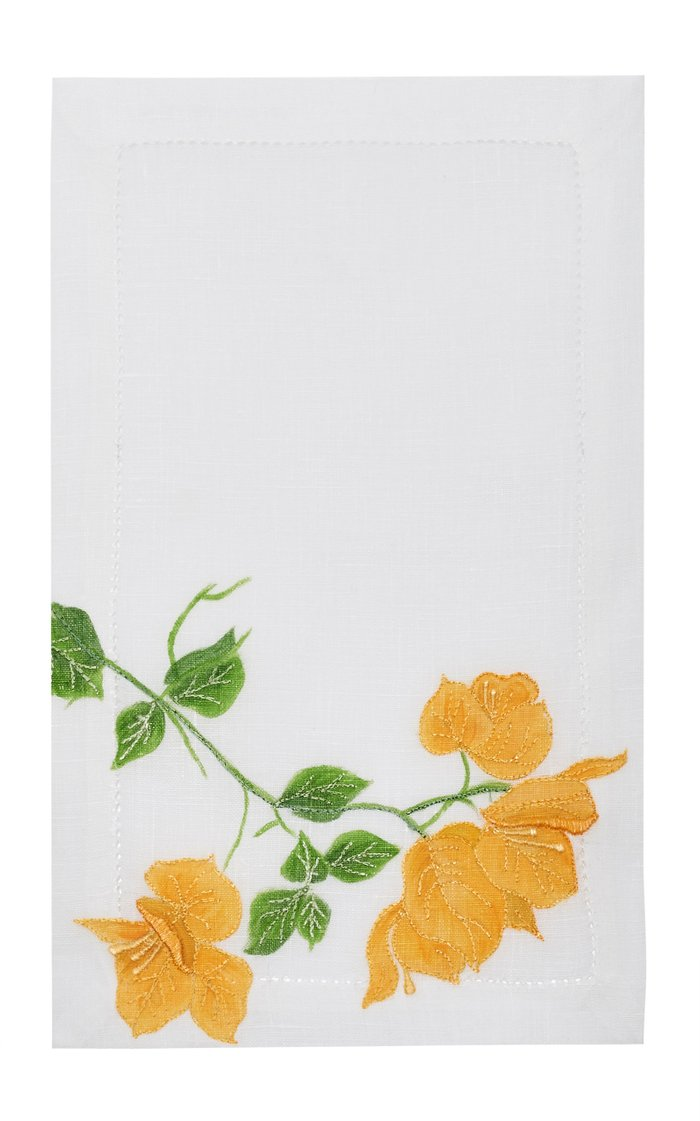Set Of 4 Bougainvilliers  Cocktail  Napkin