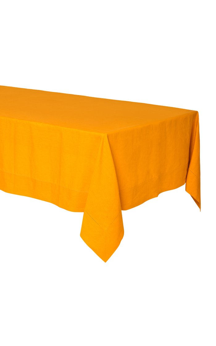 Linen Tablecloth with Hemstich