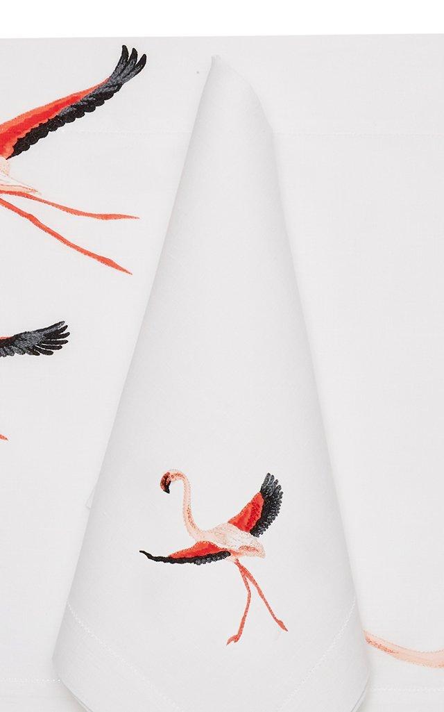 Flamingo  Placemat And Napkin Set