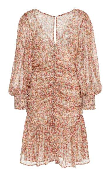 Chiffon Ruch Mini Dress